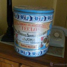 Vintage: TURRONES TECLO - JIJONA ALICANTE - CAJA DE MODELO GRANDE TORTAS - LOTE TAL FOTOS - PUBLICIDAD ESPAÑA. Lote 40409243