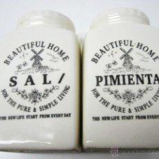 Vintage: BELLOS SAL Y PIMIENTA CERAMICA BEAUTIFUL HOME. Lote 40482115