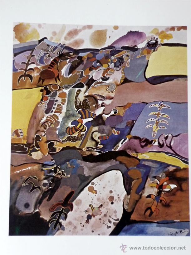 MURCIA .NUESTRA HISTORIA .PINTURAS RUPESTRES EN YECLA .OLEO DEL PINTOR ABSTRACTO VICENTE .LEER MAS (Vintage - Decoración - Varios)