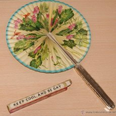 Vintage: ABANICO PAY PAY KEEP COOL, AND BE GAY. FOLDAWAY FAN. Nº 104 VINTAGE. Lote 40543374