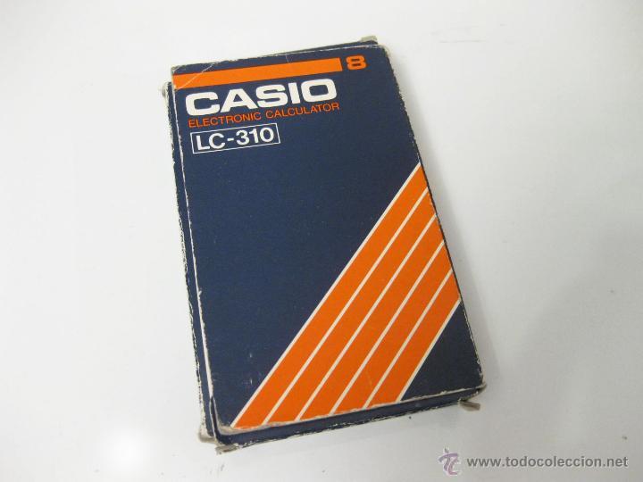 CAJA VACIA DE LA CALCULADORA CASIO LC-310 - ELECTRONIC CALCULATOR (Vintage - Varios)