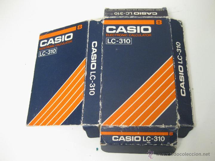 Vintage: CAJA VACIA DE LA CALCULADORA CASIO LC-310 - ELECTRONIC CALCULATOR - Foto 2 - 40668759
