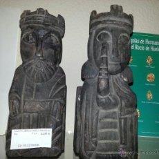 Vintage: PAREJA SUJETA LIBROS DE MADERA REYES. Lote 263768835