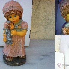 Vintage: FIGURA DE RESINA CON OJOS DE CRISTAL MIDE 23,5 CM DE ALTO. Lote 41080808