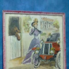 Vintage: BONITA LAMINA PUBLICIDAD FIRESTONE ENMARCADA EN EPOCA AÑOS 60 VIN. Lote 41372319