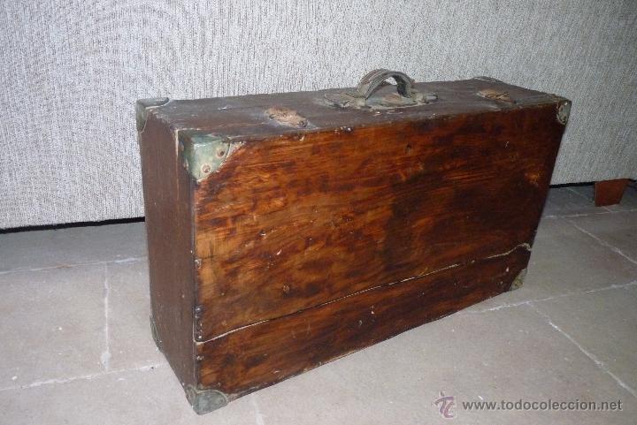 Vintage: ANTIGUA MALETA DE MADERA - Foto 5 - 41638738