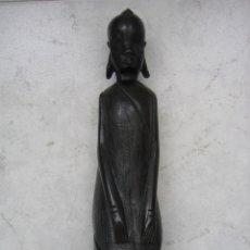 Vintage: FIGURA AFRICANA EN MADERA. ALTURA 28 CM. Lote 41769165