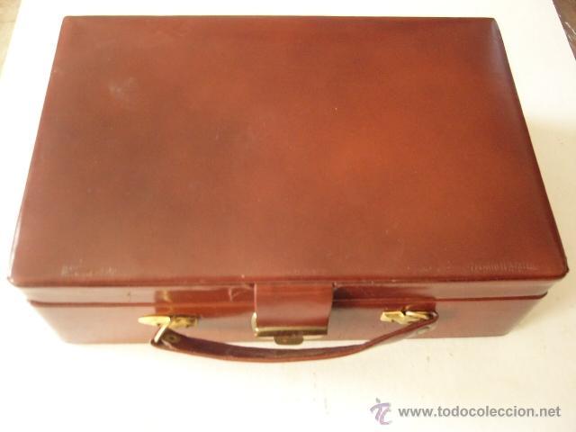 Vintage: MALETIN JOYERO DE VIAJE EN SIMIL PIEL. 2 BANDEJAS. 22 X 14 CM. 7 CM ALT. - Foto 3 - 180864351