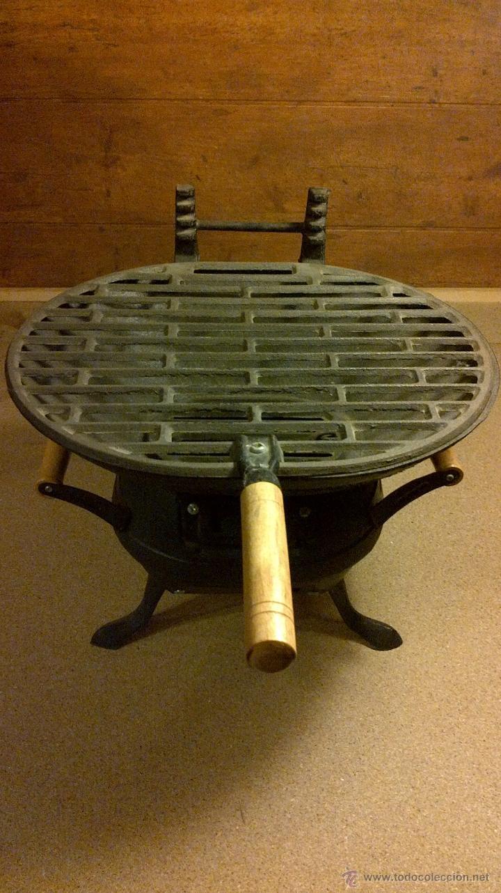 barbacoa brasero de mesa rustica de hierro aut comprar