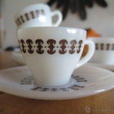 Vintage: JUEGO 5 TAZAS OPALINA CAFÈ DE RIGOPAL ARCOPAL. Lote 42269031