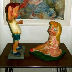 Vintage: PRECIOSA PAREJA DE NINOTS (NIÑOS) VINTAGE. Lote 42310137