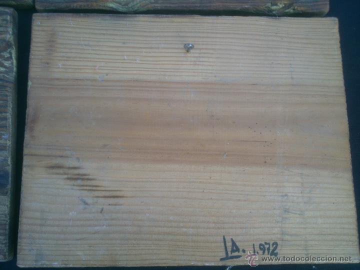 Vintage: COLECCION LAMINAS COCHES ANTIGUOS DE EPOCA SOBRE BASE DE MADERA - Foto 6 - 42581772