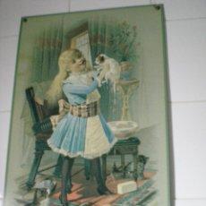 Vintage: MARAVILLOSA PLACA DECORATIVA PINTADA. Lote 42773606