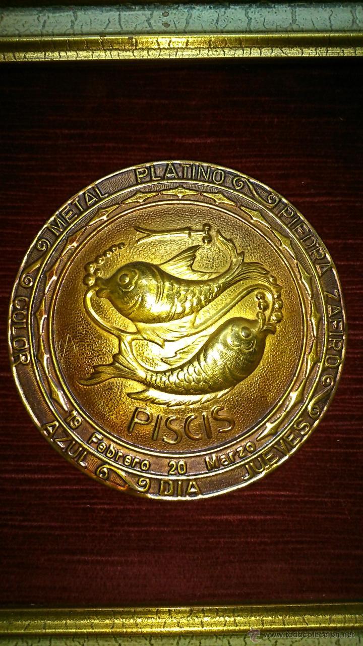 Vintage: cuadro del signo zodiacal piscis - Foto 3 - 42809110