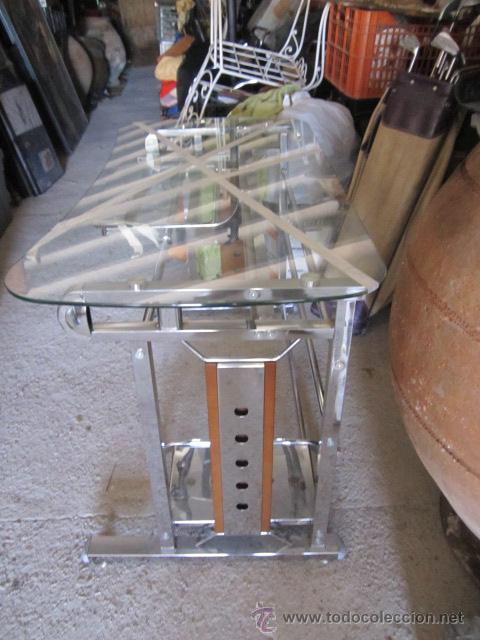 Mesa de cristal para ordenador con ruedas per comprar - Mesa de ordenador con ruedas ...