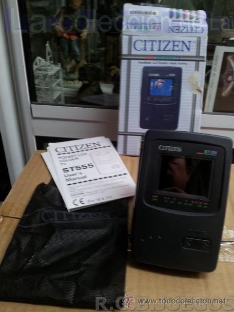 CITIZEN T555 RADIO TV PORTATIL LCD COLOR VINTAGE MADE IN JAPAN EN CAJA (Vintage - Varios)