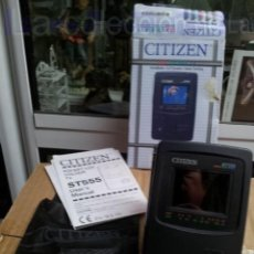 Vintage: CITIZEN T555 RADIO TV PORTATIL LCD COLOR VINTAGE MADE IN JAPAN EN CAJA. Lote 42910557