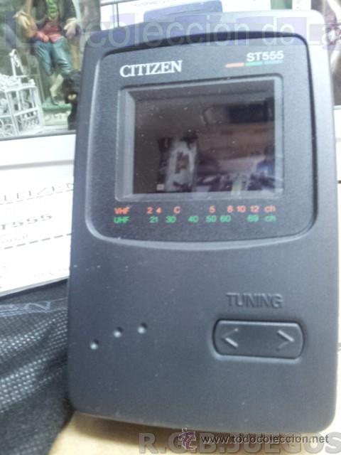 Vintage: CITIZEN T555 RADIO TV PORTATIL LCD COLOR VINTAGE MADE IN JAPAN EN CAJA - Foto 2 - 42910557