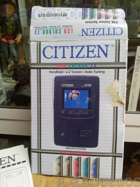 Vintage: CITIZEN T555 RADIO TV PORTATIL LCD COLOR VINTAGE MADE IN JAPAN EN CAJA - Foto 3 - 42910557