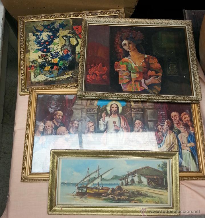 lote de cinco cuadros vintage. distintos tamaño - Comprar en ...
