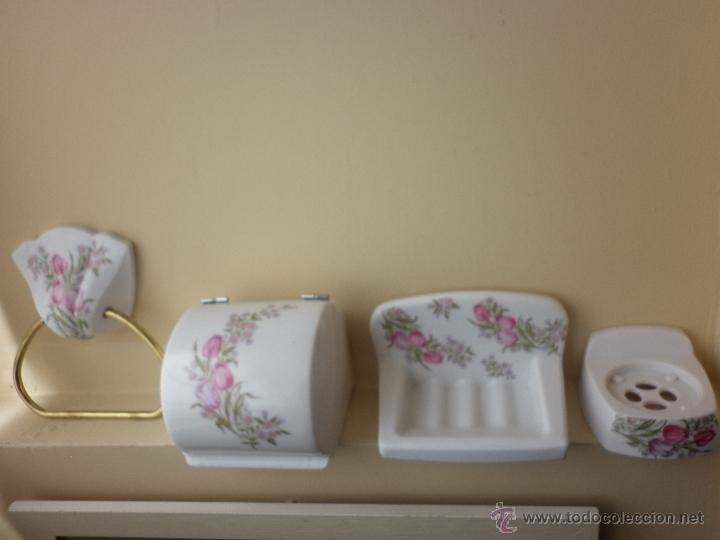 Juego vintage de accesorios para cuarto de ba comprar for Juego accesorios bano