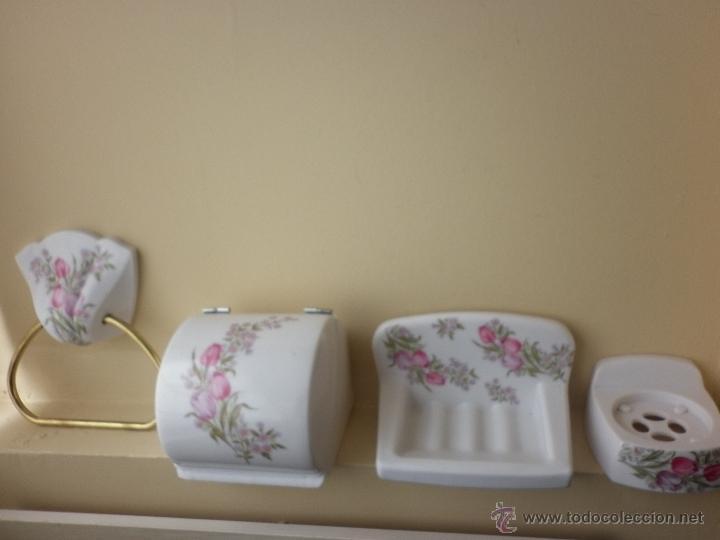 juego vintage de accesorios para cuarto de bañ - Comprar en ...