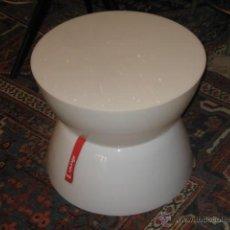 Vintage: MESA / LAMPARA EN ABS BLANCA - LOUNGE BY MOREE - CON SU ETIQUETA. Lote 43241247