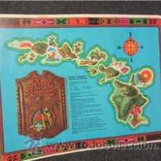 Vintage: ROYAL HAWAIIAN UNITED AIRLINES. GUIA DE PALABRAS Y FRASES DE HAWAII. MANTEL INDIVIDUAL . CARTULINA. Lote 43263811