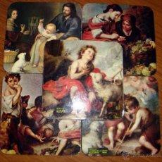 Vintage: 5 POSAVASOS CON CUADROS DE MURILLO. Lote 43520635