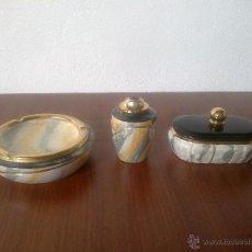 Vintage: JUEGO DE FUMADOR . 3 PIEZAS. Lote 43582473