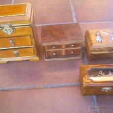 Vintage: COLECCION DE JOYEROS DISTINTOS MATERIALES. Lote 43617600
