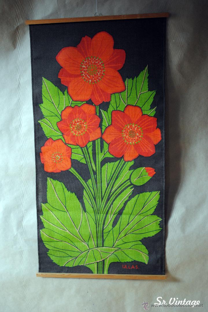 poster de tela de saco alemán de flores firmado - Comprar en ...