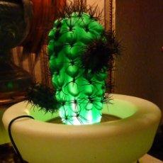 Vintage: LAMPARA DOBLE BASE MACETERO BLANCO. Lote 43798260