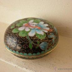 Vintage: CAJA CLOISONNE DE BRONCE ESMALTADA CHINA. Lote 44215913