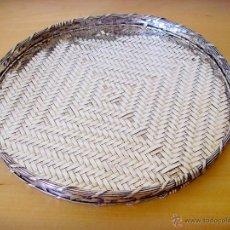 Vintage: BANDEJA DE METAL PLATEADO TRENZADA. Lote 44298083