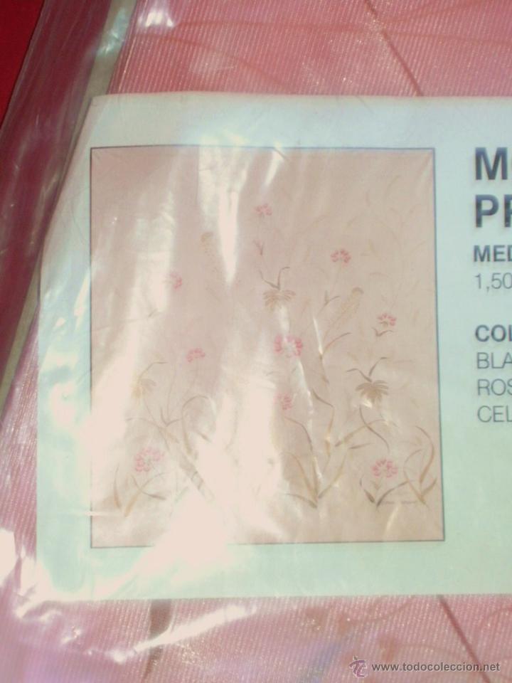Vintage: Cortina de ducha de los años 70 con estampado floral - A estrenar - - Foto 2 - 44369889