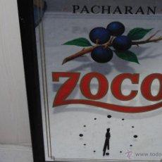 Vintage: ESPEJO RELOJ SERIGRAFIADO PACHARAN ZOCO 39 X 60. Lote 44428188
