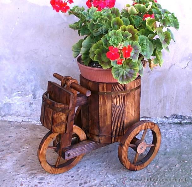 Triciclo O Carretilla De Madera Para El Jardin Comprar