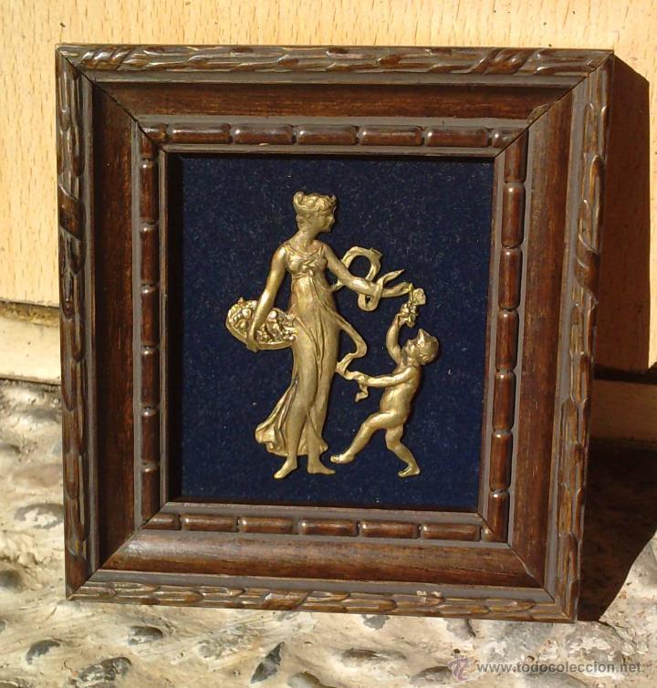 Vintage: Lote dos Cuadritos con figuras metalicas en relieve. Años 70 - Foto 3 - 44889241