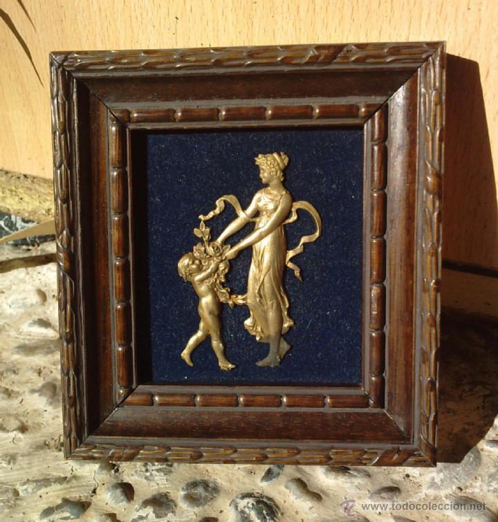 Vintage: Lote dos Cuadritos con figuras metalicas en relieve. Años 70 - Foto 4 - 44889241