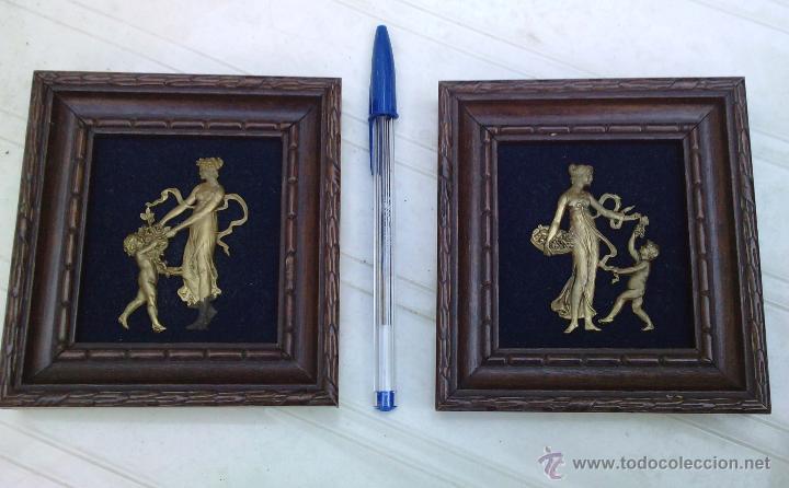 Vintage: Lote dos Cuadritos con figuras metalicas en relieve. Años 70 - Foto 5 - 44889241