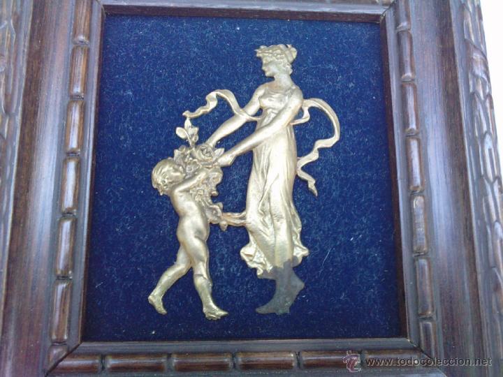 Vintage: Lote dos Cuadritos con figuras metalicas en relieve. Años 70 - Foto 7 - 44889241