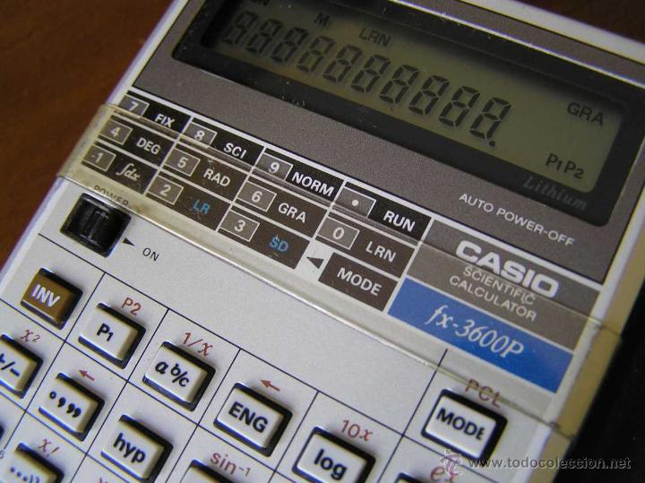 Vintage: CALCULADORA CASIO fx-3600P SCIENTIFIC CALCULATOR - Foto 2 - 118874331