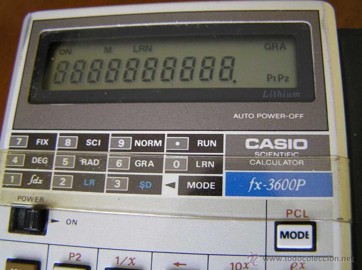 Vintage: CALCULADORA CASIO fx-3600P SCIENTIFIC CALCULATOR - Foto 18 - 118874331