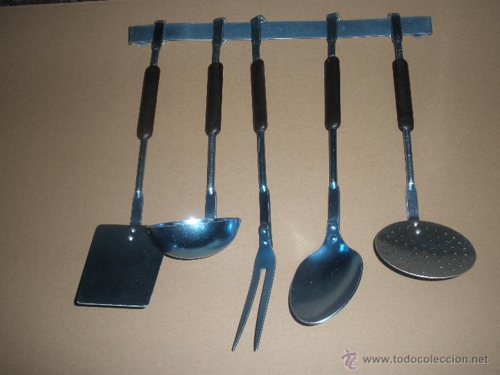 Utensilios vintage de cocina con barra para col comprar for Utensilios de cocina vintage