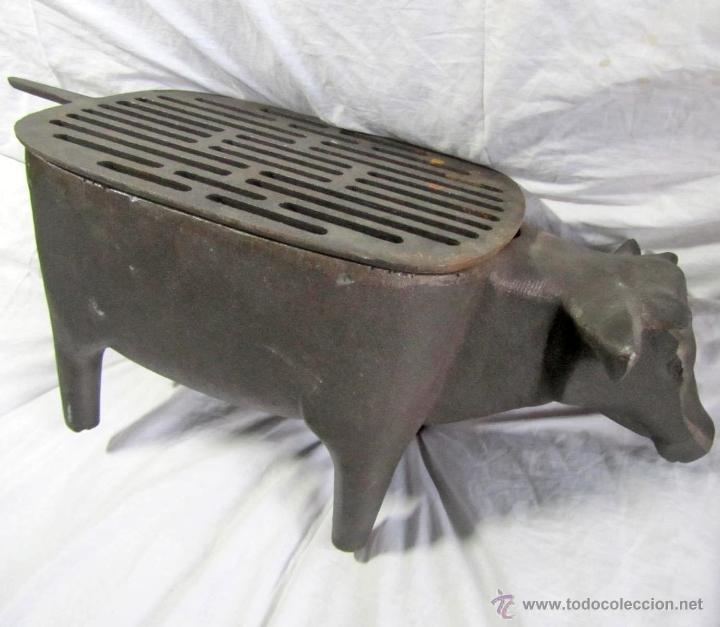 Curiosa parrilla barbacoa de hierro fundido con comprar en todocoleccion 45285423 - Barbacoas hierro fundido ...