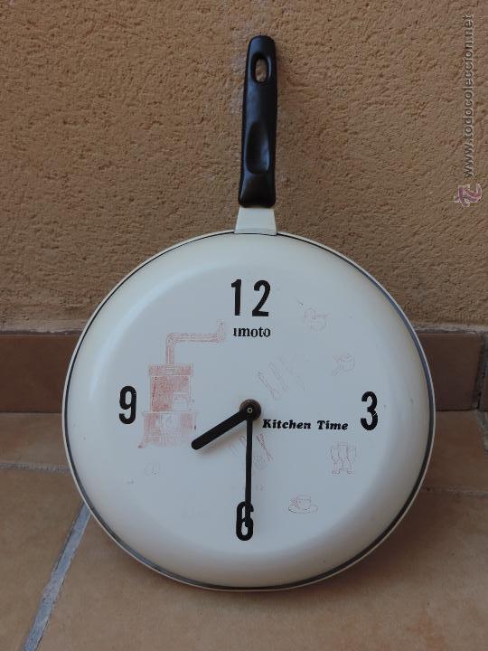 Vintage: Reloj De Pared Vintage Con Forma de Sartén para Cocina - Foto 1 - 45301885