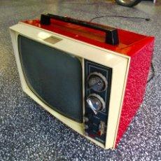 Vintage: TELEVISOR TELEVISIÓN ELBE ROJO VINTAGE RETRO AÑOS 60. Lote 169863336