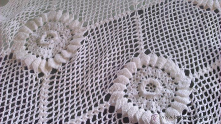 Vintage: Precioso camino de mesa de ganchillo color blanco.Nuevo sin estrenar .Tengo mas iguales en stoc - Foto 4 - 46099568