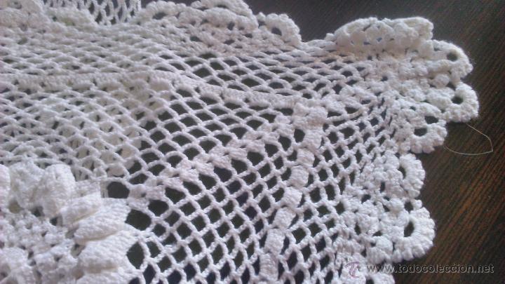 Vintage: Precioso camino de mesa de ganchillo color blanco.Nuevo sin estrenar .Tengo mas iguales en stoc - Foto 5 - 46099568